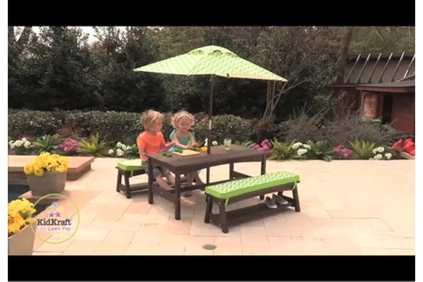 Fun in the Sun Table and Bench Set u00bb KidKraft - Outdoor Play u00bb Welcome to Costco Wholesale