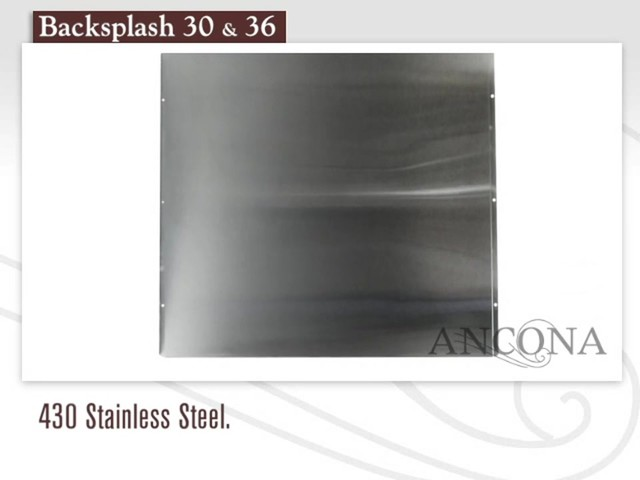 Ancona Stainless Steel Backsplash - image 1 from the video