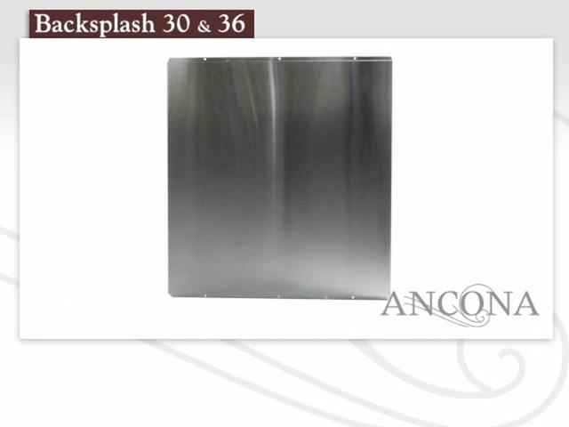 Ancona Stainless Steel Backsplash - image 10 from the video
