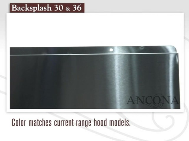 Ancona Stainless Steel Backsplash - image 2 from the video