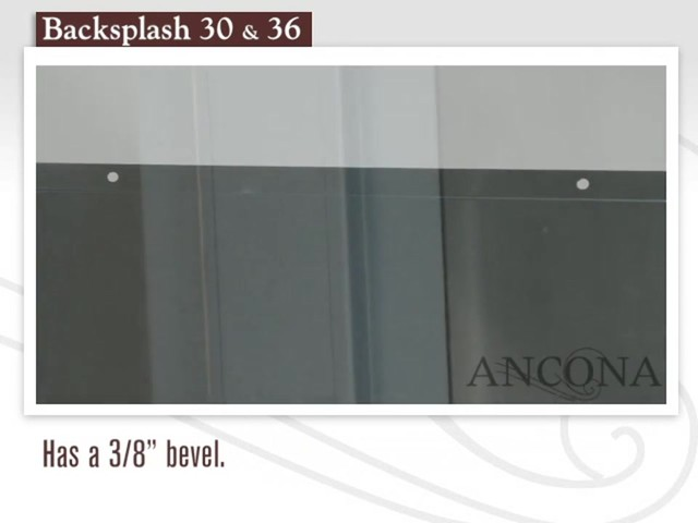 Ancona Stainless Steel Backsplash - image 4 from the video