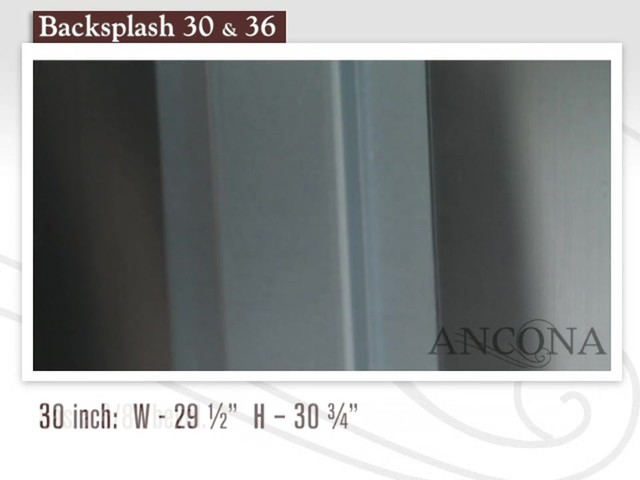 Ancona Stainless Steel Backsplash - image 5 from the video