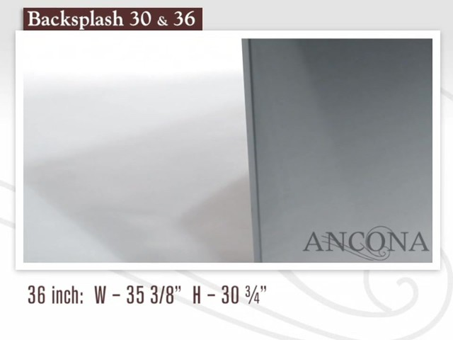 Ancona Stainless Steel Backsplash - image 7 from the video