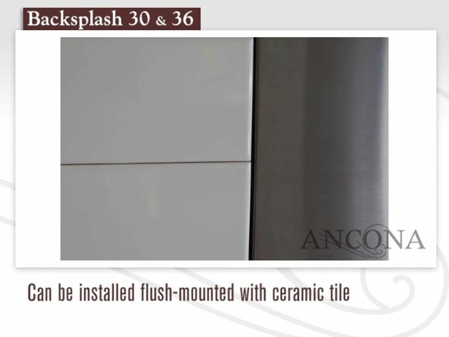 Ancona Stainless Steel Backsplash - image 8 from the video