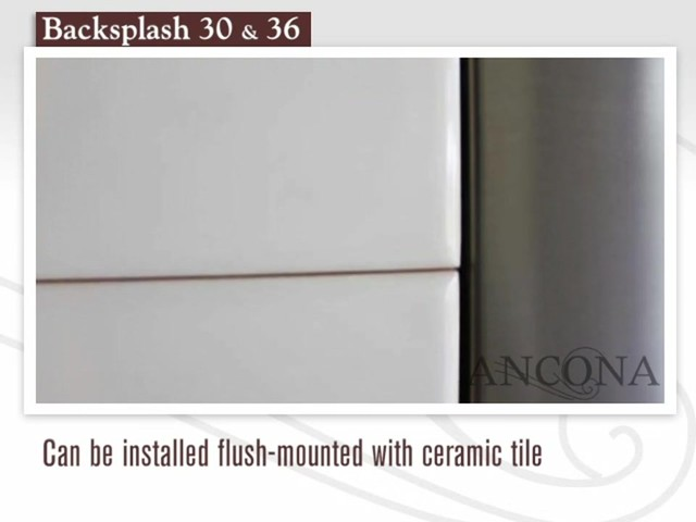 Ancona Stainless Steel Backsplash - image 9 from the video