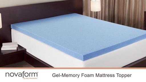"""Novaform 3"""" Gel Memory Foam Mattress Topper Wel e to"""