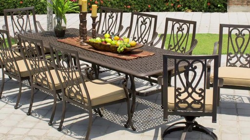 Saratoga 11 Piece Patio Dining Collection Image 3 From The Video