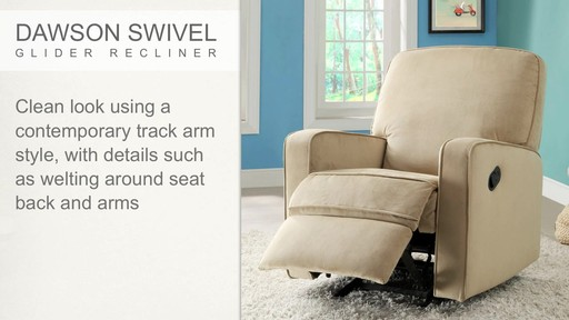 Dawson Swivel Glider Recliner - image 2 from the video