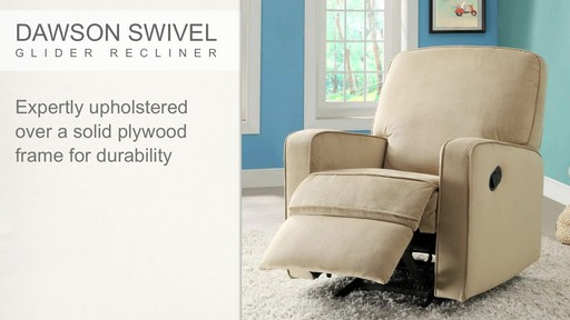 Dawson Swivel Glider Recliner - image 3 from the video