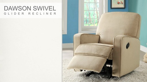 Dawson Swivel Glider Recliner - image 4 from the video