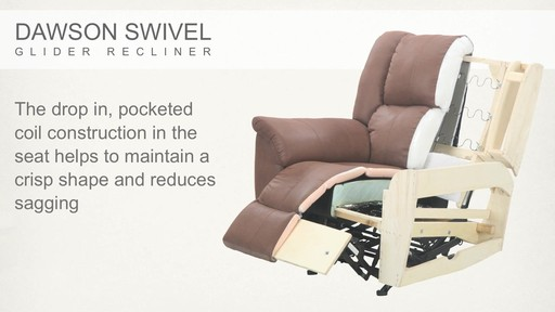 Dawson Swivel Glider Recliner - image 5 from the video