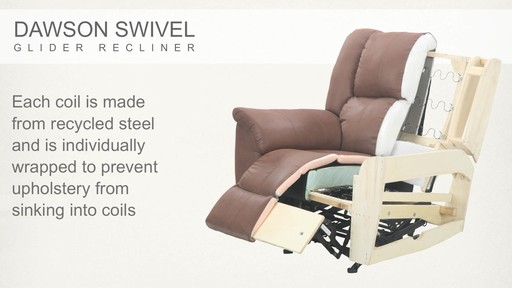 Dawson Swivel Glider Recliner - image 7 from the video