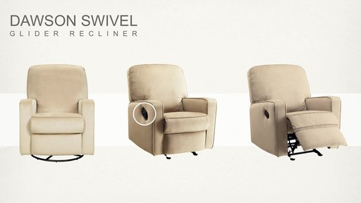 Dawson Swivel Glider Recliner - image 8 from the video