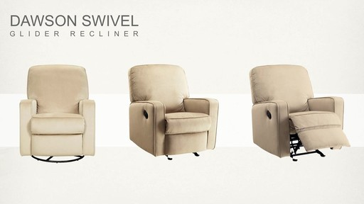 Dawson Swivel Glider Recliner - image 9 from the video
