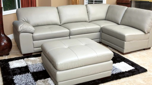 Portman Leather 5 Piece Modular Sectional Welcome To Costco Wholesale