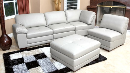 Portman Leather 5-piece Modular Sectional - image 8 from the video | 512 x 288 · 44 kB · jpeg