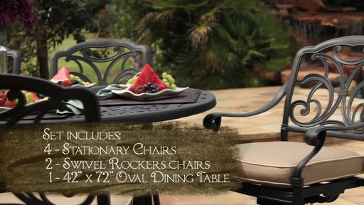 San Paulo 7 Piece Patio Dining Set   Image 3 From The Video