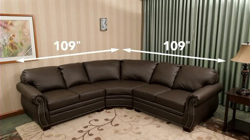 532530 Beverly Leather Sectional 187 Abbyson Furniture