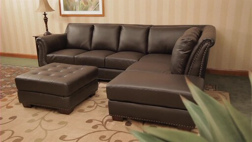 Vegas Leather Sectional - image 1 from the video