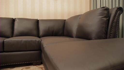 Vegas Leather Sectional - image 10 from the video