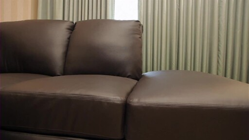 Vegas Leather Sectional - image 2 from the video