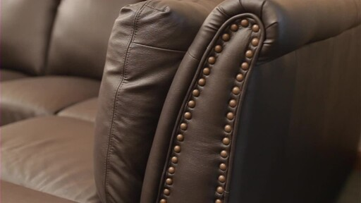 Vegas Leather Sectional - image 4 from the video