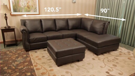 Vegas Leather Sectional - image 9 from the video