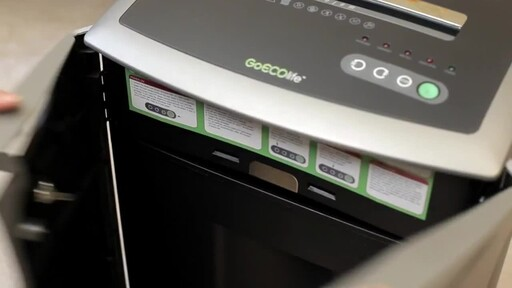 GoECOlife 12-Sheet Cross-cut Commercial Shredder - image 4 from the video