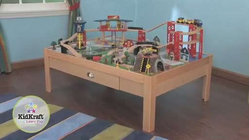KidKraft® Airport Express Train Set & Table - image 1 from the video