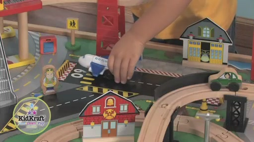KidKraft® Airport Express Train Set & Table - image 2 from the video