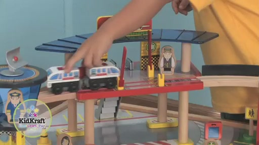 KidKraft® Airport Express Train Set & Table - image 3 from the video