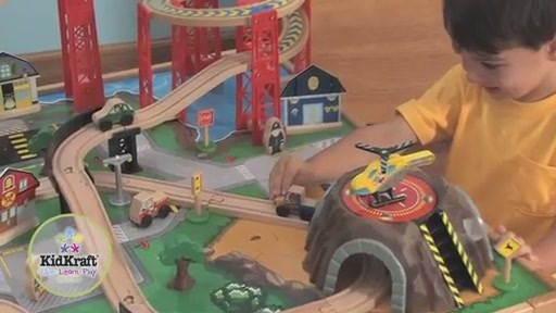 KidKraft® Airport Express Train Set & Table - image 7 from the video