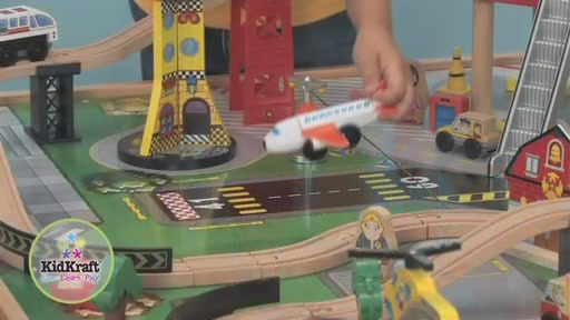 KidKraft® Airport Express Train Set & Table - image 8 from the video
