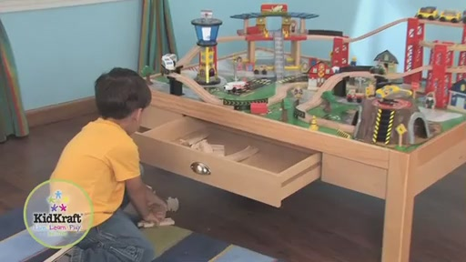 KidKraft® Airport Express Train Set & Table - image 9 from the video