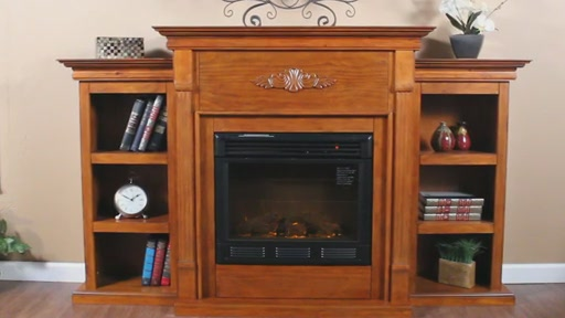 Salvatore Bookcase Electric Fireplace SEI Welcome To
