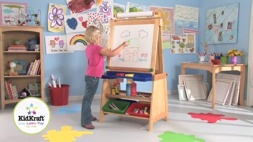 KidKraft Deluxe Grand Storage Easel - image 1 from the video