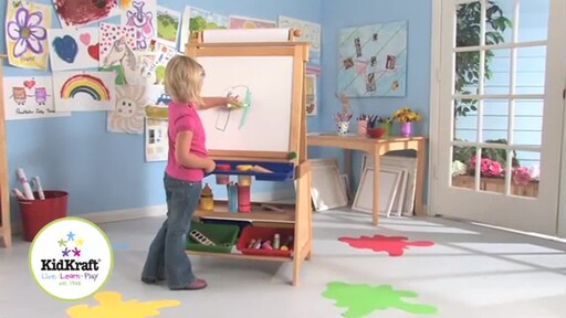 KidKraft Deluxe Grand Storage Easel - image 10 from the video