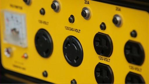 Champion 6,500 Watt Portable Generator  - image 5 from the video