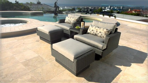 Portofino Signature Club Chair And Ottoman 2 Pack In Weathered Gray Patio Furniture Welcome