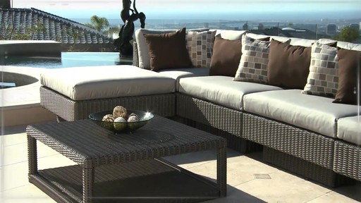Portofino Signature 6 Piece Modular Deep Seating Collection In Weathered  Gray   Image 7 From
