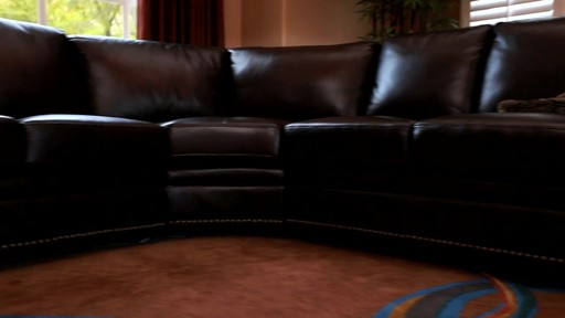 Santa Monica 2-piece Top Grain Leather Sectional and Ottoman - image 2 from the video