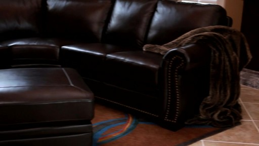 Santa Monica 2-piece Top Grain Leather Sectional and Ottoman - image 3 from the video