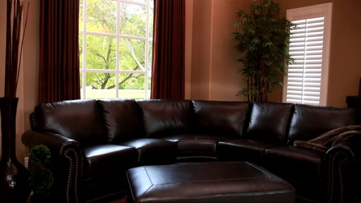 Santa Monica 2-piece Top Grain Leather Sectional and Ottoman - image 4 from the video