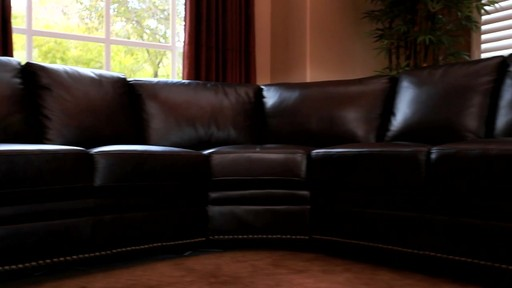 Santa Monica 2 Piece Top Grain Leather Sectional And