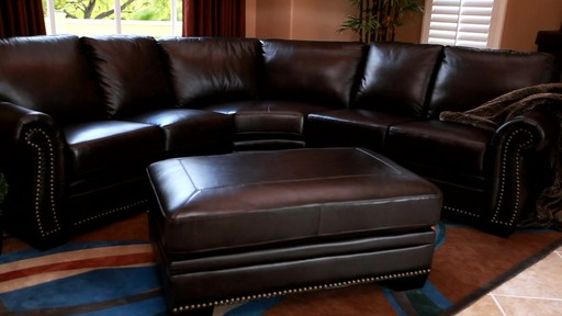 Santa Monica 2-piece Top Grain Leather Sectional and Ottoman - image 8 from the video