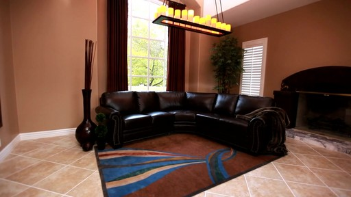 Santa Monica 2-piece Top Grain Leather Sectional and Ottoman - image 9 from the video