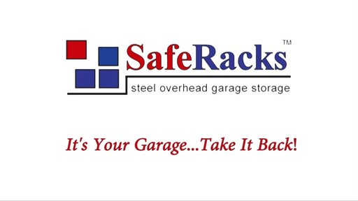 SafeRacks 4'x8' Overhead Garage Storage Rack - image 10 from the video