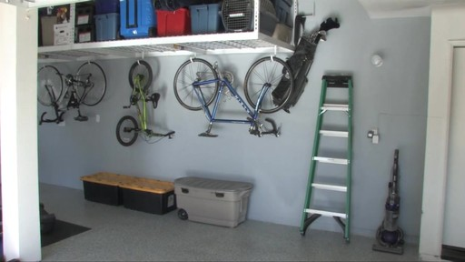 SafeRacks 4'x8' Overhead Garage Storage Rack - image 6 from the video