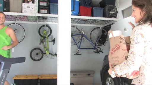 SafeRacks 4'x8' Overhead Garage Storage Rack - image 7 from the video