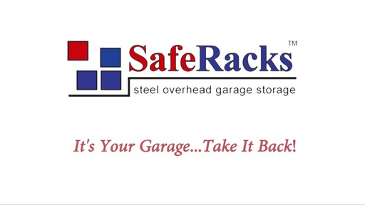 SafeRacks 4'x8' Overhead Garage Storage Rack - image 9 from the video